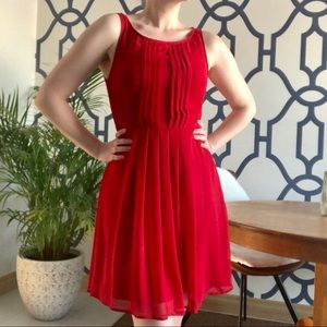 SMART SET Red Chiffon Dress